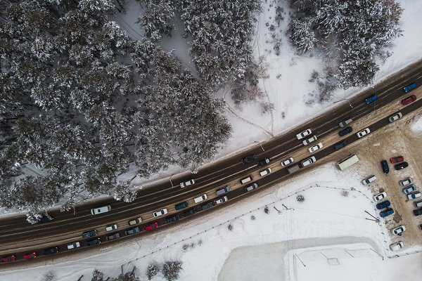 Stock Photos: Jan Jack Russo Media - Aerial view of a road in winter