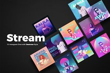 Stream 10 Duotone Instagram Posts by  in Social Media