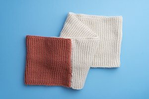 Knit winter scarf