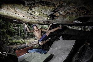 Climbing Sport. Strong, muscular ath