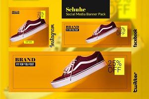 Social Media Banner Pack - Schuhe