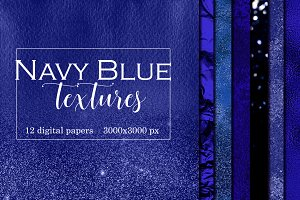 Deep blue metallic textures pack