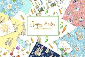 Watercolor Easter digital paper