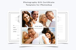 Photography Gift Certificate Templat