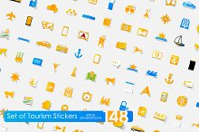 148 tourism stickers