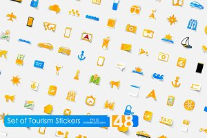 148 tourism stickers