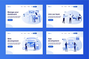 Set of Web development templates