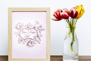 Valentine printables poster flowers