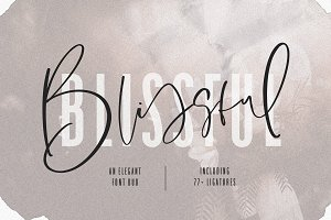 Blissful Elegant Font Duo