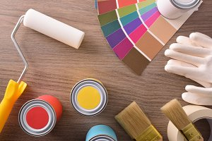 Composition with paint products