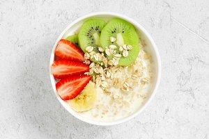 Oatmeal porridge bowl