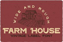 Farm House Typeface by  in Display Fonts