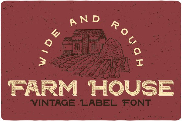 Fonts - Farm House Typeface