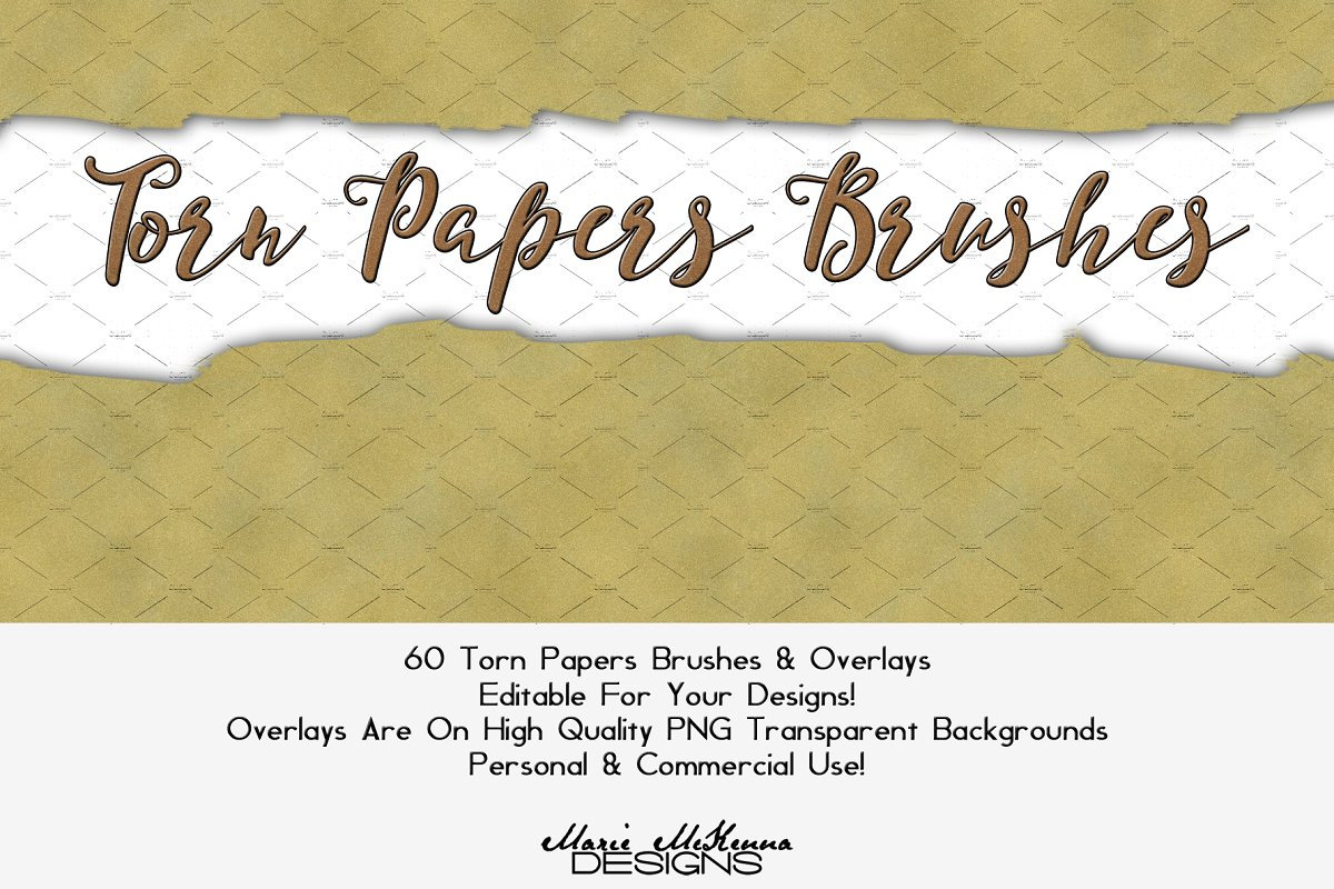 Torn Papers Brushes & Overlays ~ Photoshop Add-Ons