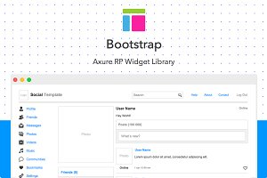 Axure widget library / Bootstrap