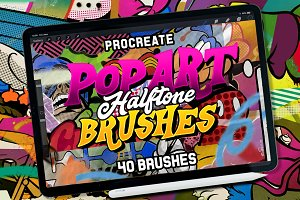 POP ART  BRUSHES KIT FOR PROCREATE