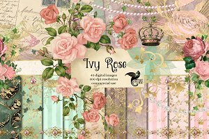 Ivy Rose Digital Scrapbook Kit