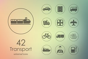 42 transport icons