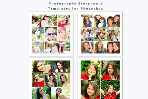 Storyboard Templates 12x12 Photoshop
