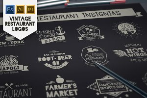 Vintage Restaurant & Bar Insignias