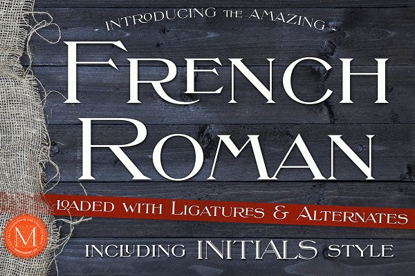 Serif Fonts: Monogram Fonts Co. - MFC French Roman