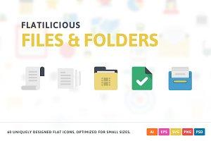 Files & Folders Flat Icons