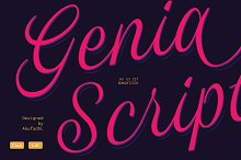 Genia Script Typeface 50% OFF INTRO by  in Script Fonts
