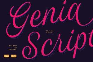 Genia Script Typeface 50% OFF INTRO
