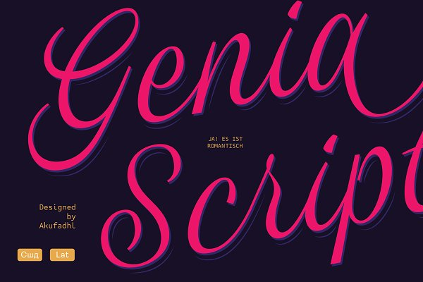 Fonts: Alterna Typefoundry - Genia Script Typeface 50% OFF INTRO