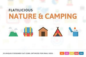 Nature & Camping Flat Icons