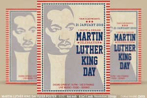 Martin Luther King Day Flyer Poster