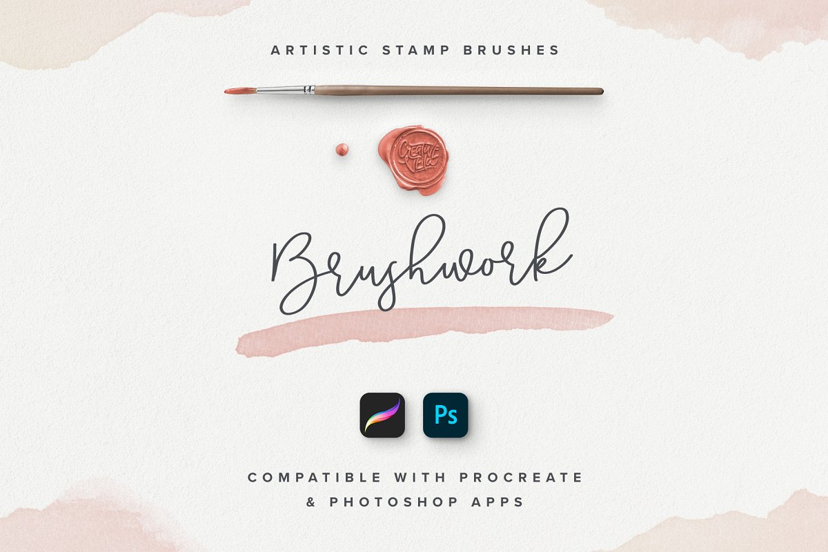 Brushwork for ProCreate & Photoshop ~ Photoshop Add-Ons ~ Creative