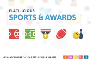 Sport & Awards Flat Icons