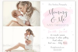 Mommy and Me Mini Session Template