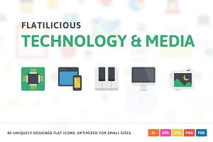 Technology & Media Flat Icons