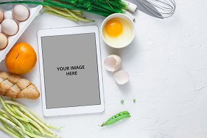 Cooking recipes on ipad with