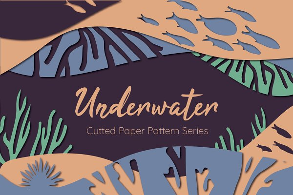 Graphic Patterns: Anna Gruszkowska - Underwater Cutted Paper