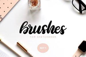 Sketchbook Brushes 1: Calligraphy