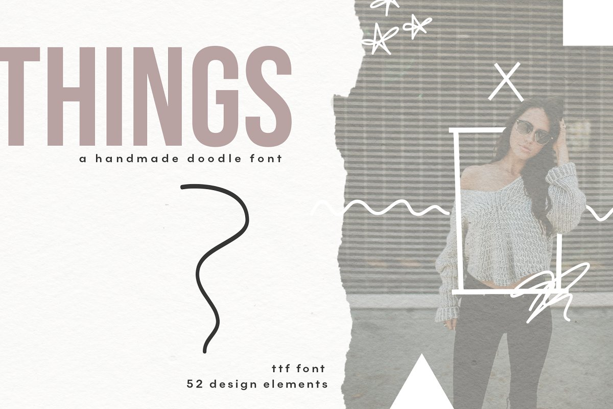 Things - A Doodle Font