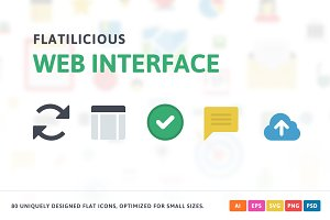 Web Interface Flat Icons