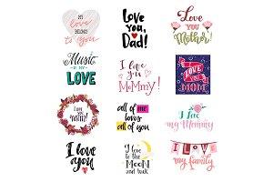 Love lettring vector lovely