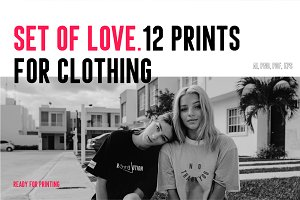 12 Love prints for clothing