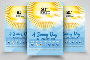 Weather Report Flyer Templates