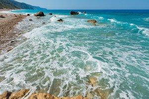 Summer Lefkada coast, Greece