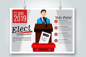 Voting Elections Psd Flyer Templates
