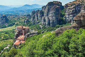 Summer rocky Meteora monasteries, Gr