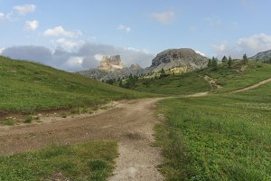 Path leading to the mountains