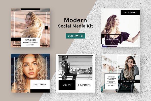 Modern Social Media Kit (Vol. 8)