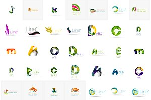 Universal corporate logotypes set