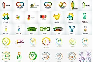 Big collection of business logos